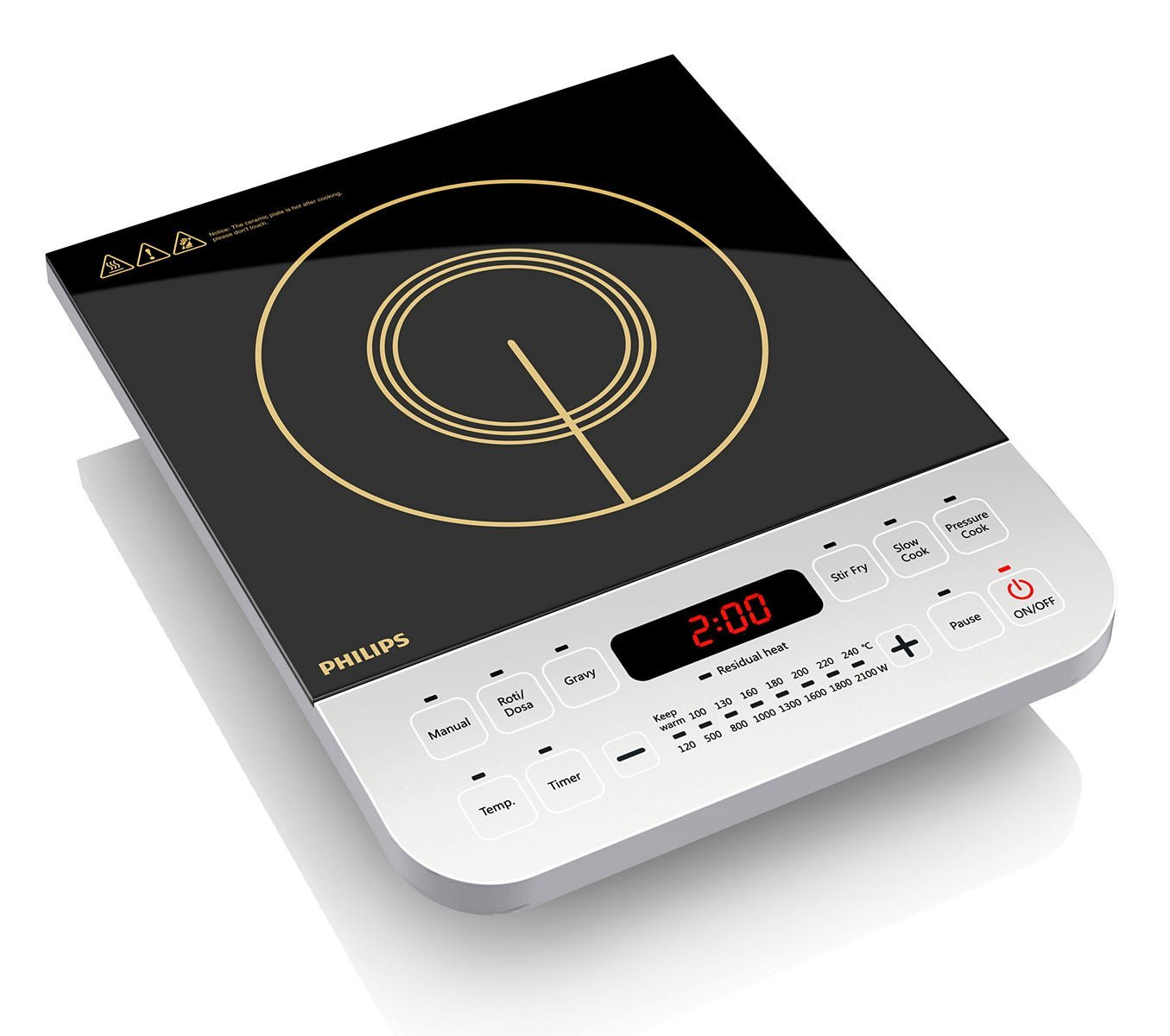 philips viva collection hd4928 2100 watt induction cooktop black rh bestforyourhome co in philips induction cooker specifications philips induction stove manual