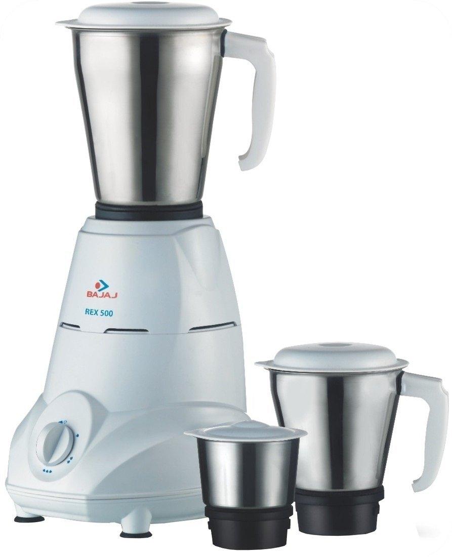 Bajaj Rex 500-Watt Mixer Grinder with 3 Jars (White) Review