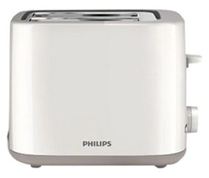 Philips Daily Collection HD2595/09 800-Watt 2 Slot Toaster (White)