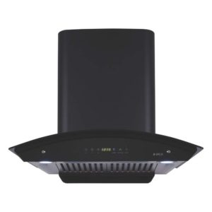 Elica 60 cm 1200 m3/hr Auto Clean Chimney (WD HAC TOUCH BF 60, 2 Baffle Filters, Touch Control, Black)