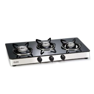 Glen 1033GT Automatic Glass Cooktop(Gas Stoves) Glass Automatic Gas Stove (3 Burners)