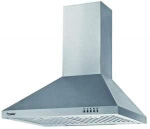 Prestige 60cm 760 m3/hr Chimney (DKH 600 CS (B-Series), 2 Baffle Filters, Steel/Grey)