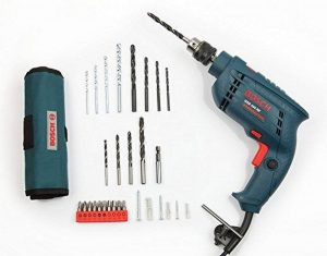 Bosch GSB 450-Watt Plastic Impact Drill Set (Blue, 53-Pieces)