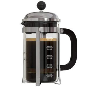 InstaCuppa French Press Coffee Maker with 4 Part Superior Filtration 600 ML