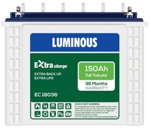 Luminous ExtraCharge EC18036 150Ah Tall Tubular Battery