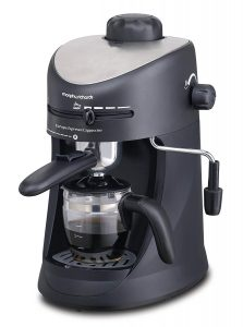 Morphy Richards New Europa 800-Watt Espresso and Cappuccino 4-Cup Coffee Maker (Black)