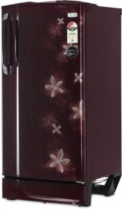 Godrej 185 L Direct Cool Single Door 3 Star Refrigerator (Galaxy Wine, R D 1853 PM 3.2 GXY WIN)