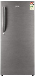 Haier 195 L 4 Star Direct Cool Single Door Refrigerator(HED-20FDS, Brushed silver Dazzle Steel)