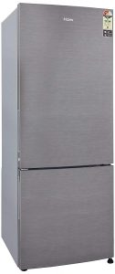 Haier 320 L 3 Star Frost Free Double Door Refrigerator (Brushline silver, Bottom Freezer)