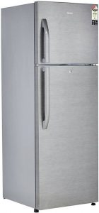 Haier 335 L Frost Free Double Door 3 Star Refrigerator (Brushline Silver, HRF-3554BS-RE)