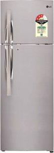 LG 260 L Frost Free Double Door 3 Star Refrigerator (Shiny Steel, GL-T292RPZU)