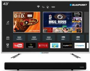 Blaupunkt 109cm (43 inches) Full HD LED Smart TV with External Soundbar