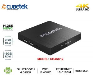 Cubetek 4K Portable Smart TV Box With 2GB RAM, 16GB ROM, HDMI 2.0, Android 6.0, Wi-Fi, Dolby 5.1
