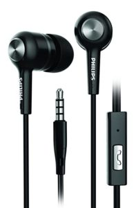 Philips Audio SHE1505 in-Ear Rich Bass Headphones with 10 mm Drivers, Passive Noise Isolation and Mic