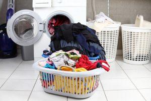 preparing for laundry