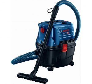 Bosch GAS 15 Professional PS Wet & Dry Extractor/Vacuum Cleaner Heavy Duty - Construction, Wood and Metal Working 1100 W (Blue)